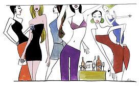 illustrazione moda, fashion illustration, Ilustración de moda