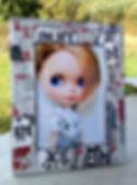 cornice portafoto realizzata a mano, photo frame handmade, marco de fotos hecho a mano