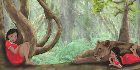 illustration book The Little Girl and the sacred Puma.JPG