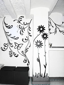 decoro parete, wall decoration, decoración de la pared