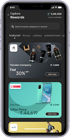 Kashware Rewards, Kashware App, Kashware Ui, Rewards.