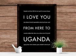 LoveUfromheretoUganda