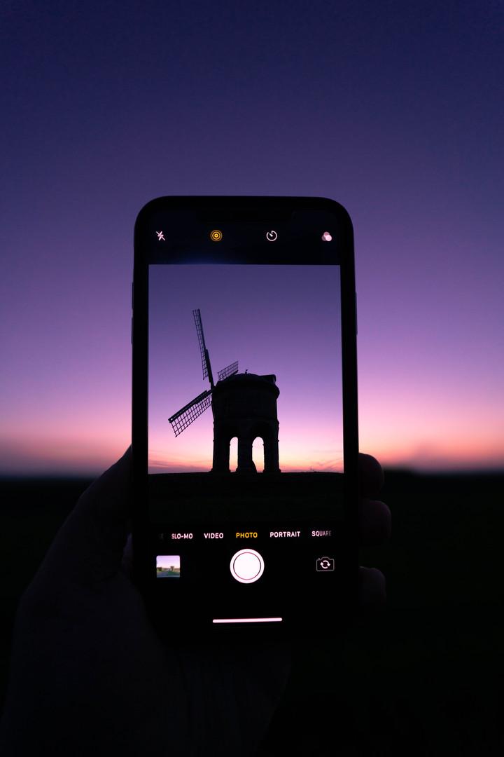 Chesterton Mill Through A Phone