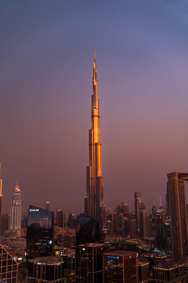 Burj Khalifa through Golden Hour
