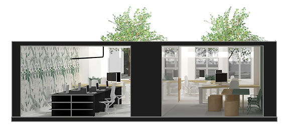 3D visualisatie interieur Bureau Herengracht