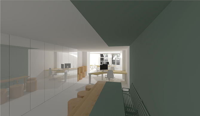 3D visualisatie interieur Bureau Herengracht