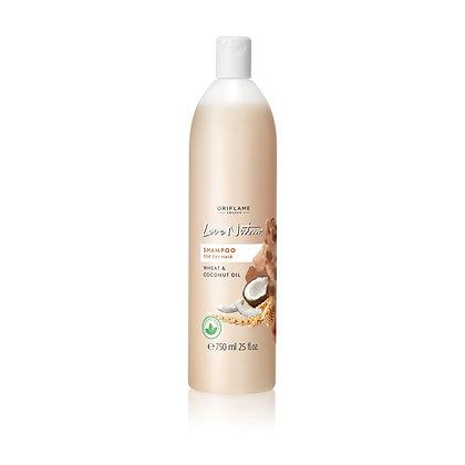 LOVE NATURE Σαμπουάν για Ξηρά Μαλλιά με Σιτάρι & Έλαιο Καρύδας Love Nature Jumbo