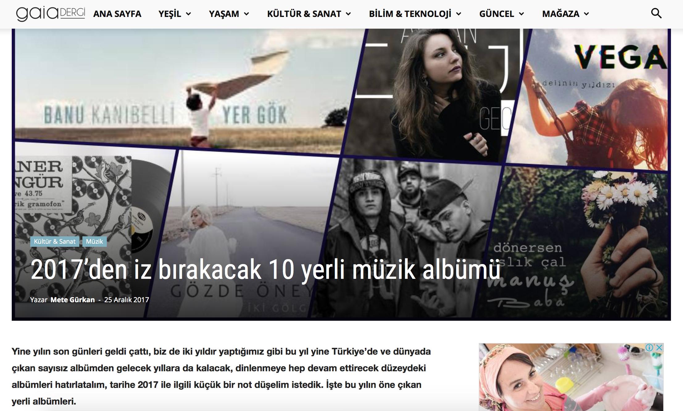 Mete Gürkan, Gaia Dergi 25.12.2017