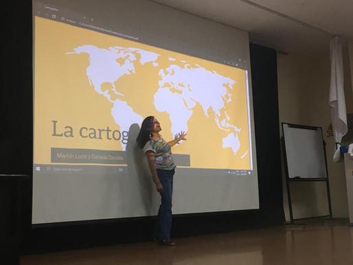 Hablando de Cartografía en el colegio Terranova