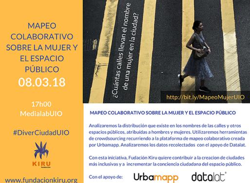 Mapeo colaborativo sobre la Mujer y el Espacio Público