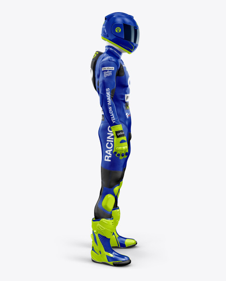 MotoGP Racing Kit Mockup - Side View
