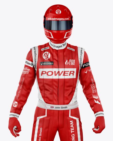 F1 Racing Kit Mockup - Front View