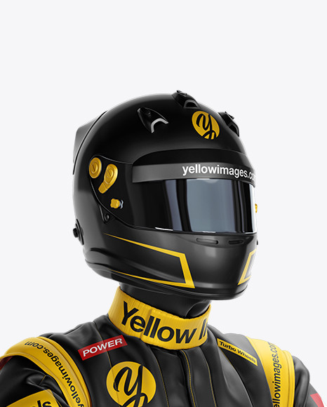 F1 Racing Kit Mockup - Front Half View