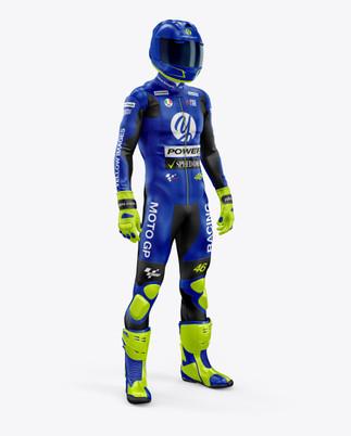MotoGP Racing Kit Mockup - Front Half View