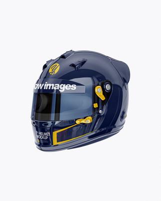 F1 Helmet Mockup