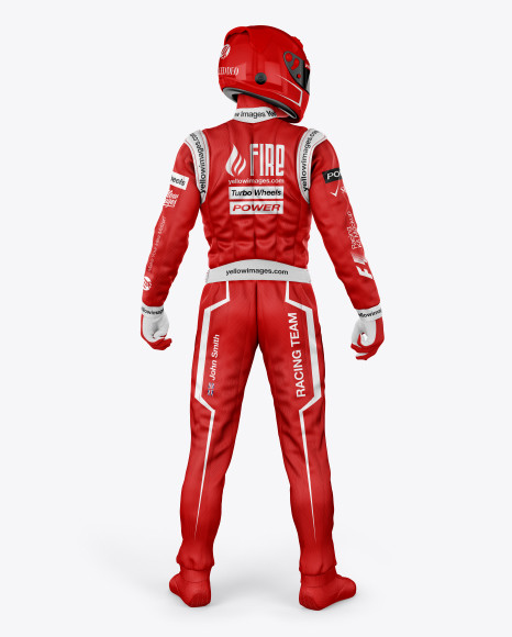 F1 Racing Kit Mockup - Back View