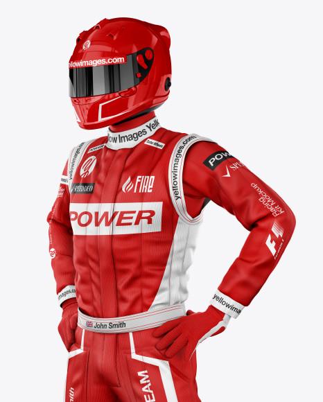 F1 Racing Kit Mockup - Front Half View