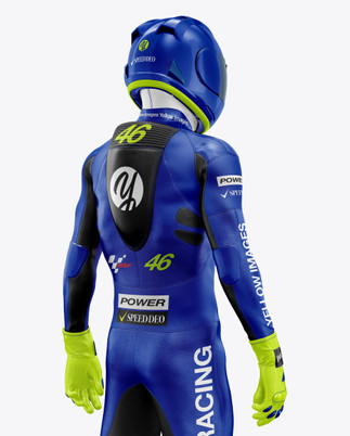 MotoGP Racing Kit Mockup - Back Half View