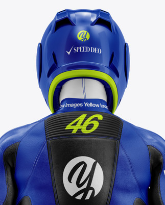 MotoGP Racing Kit Mockup - Back View