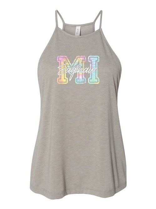 Tie Dye MI/Saginaw High Neck Tank