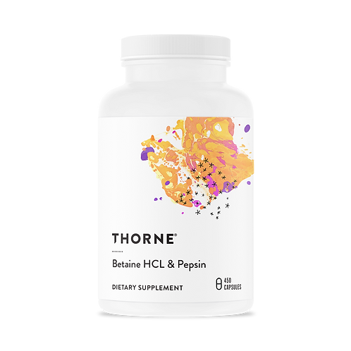Thorne - Betaine HCL & Pepsin