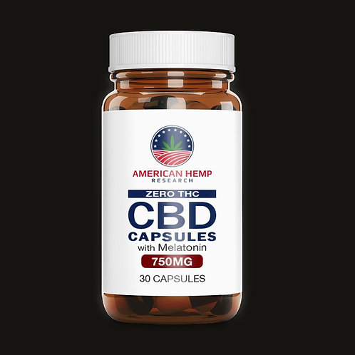 T-FREE 750 mg CBD Melatonin Capsules