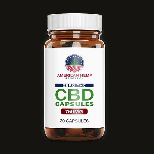 T-FREE 750 mg CBD Turmeric Capsule
