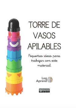 TORRE DE VASOS DE COLORES