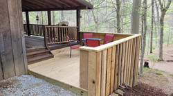 Smaller deck from driveway
