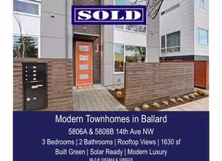 Modern Townhomes in Ballard - SOLD!