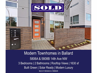 Modern Townhomes in Ballard - SOLD!