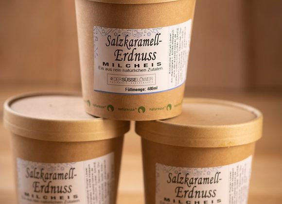 Salzkaramell - Erdnuss - Milcheis 480ml