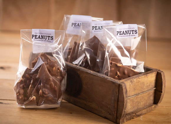 Bruchschokolade Peanuts 200g