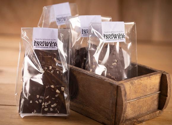 Bruchschokolade kandierter Ingwer 200g