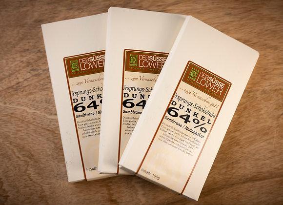 Ursprungs - Schokolade, Dunkel 64 % Sambirano/Madagaskar 100g
