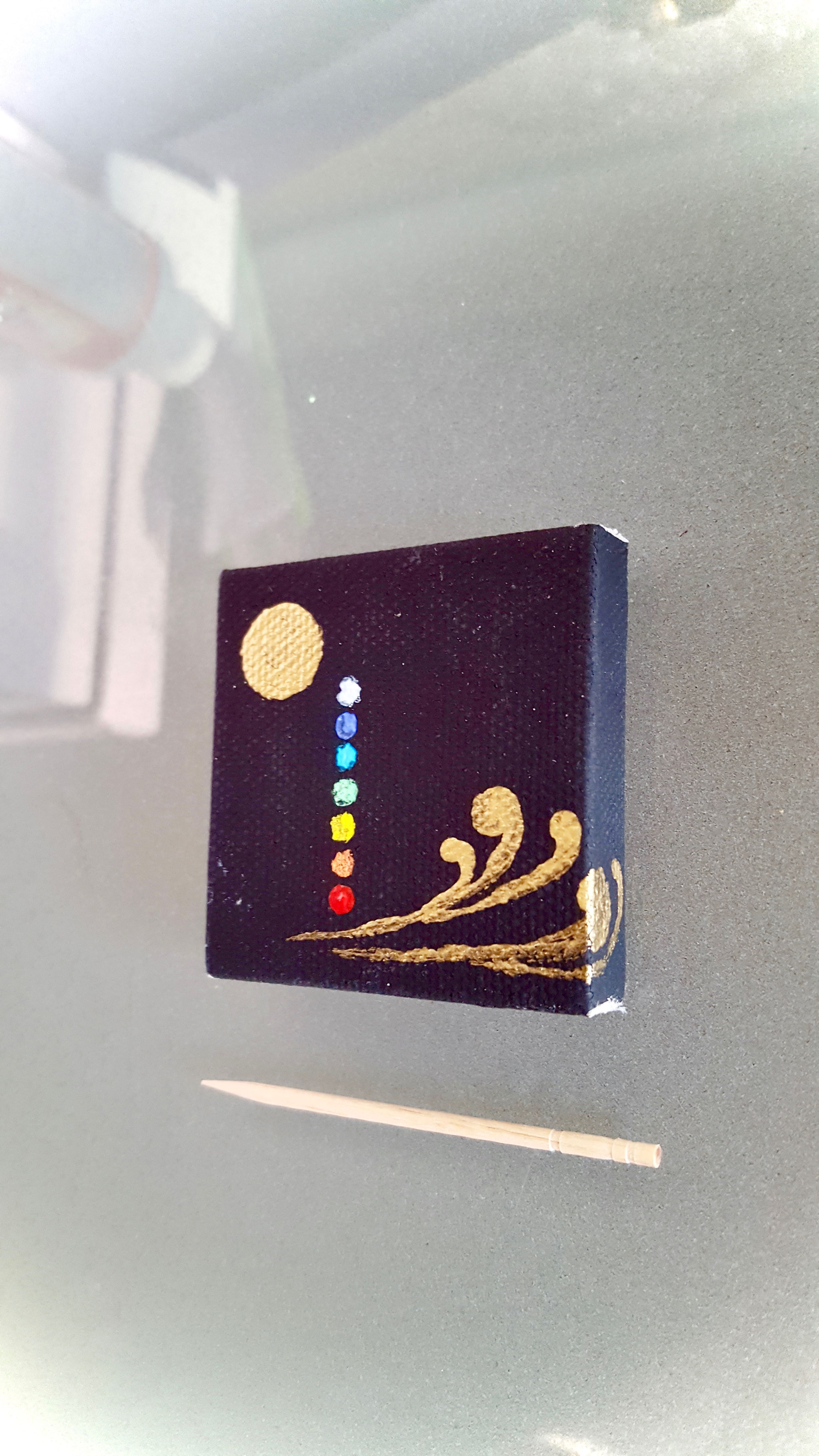 Chakra and Moon Mini Canvas