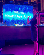 Miyuki Matsunaga Emcee Microsoft party.J