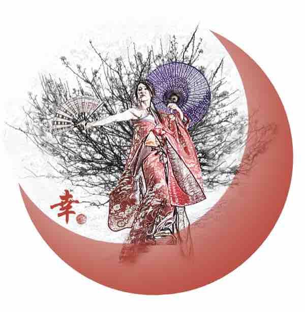 MIYUKI GETA DANCE ART T-shirts Moon