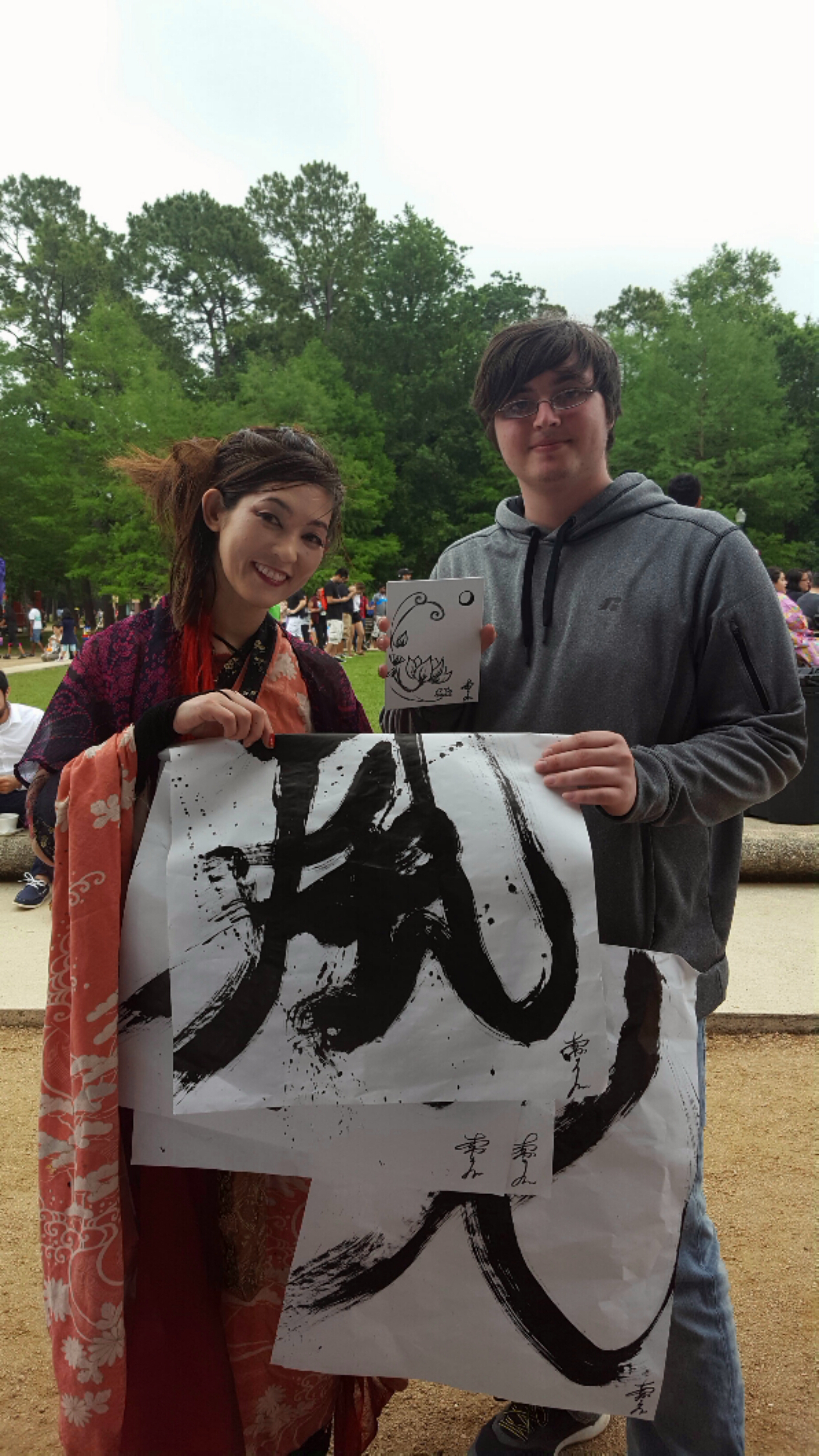Miyuki Geta Dance Live Calligraphy Art Wind