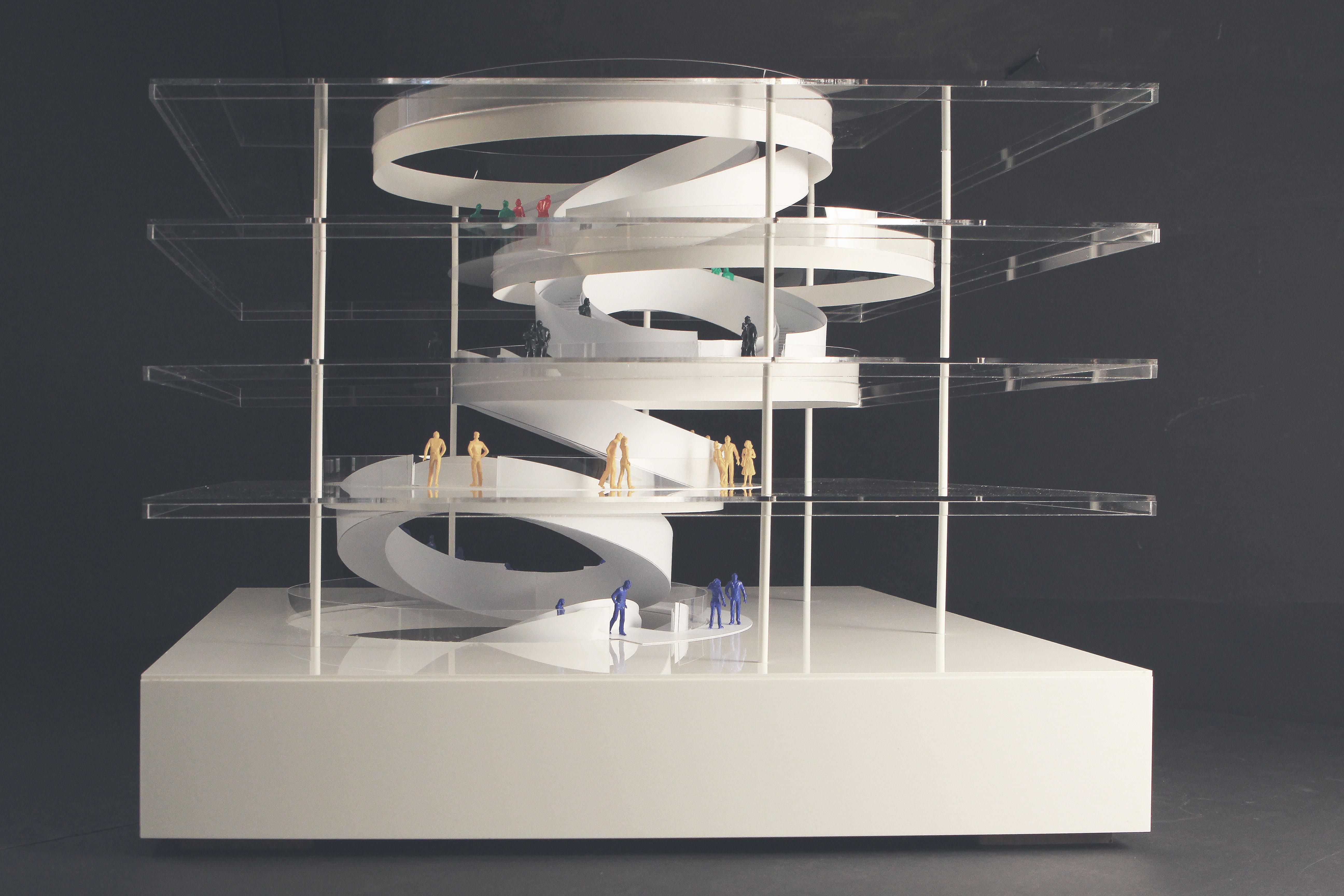IOC staircase 1:50 model