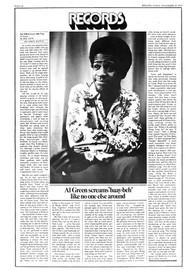 1972-11-23 – Issue 122 – Al Green Scream