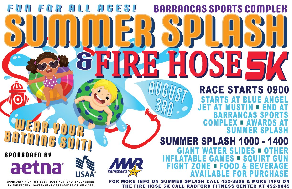 NAS Summer Splash & Fire Hose 5K