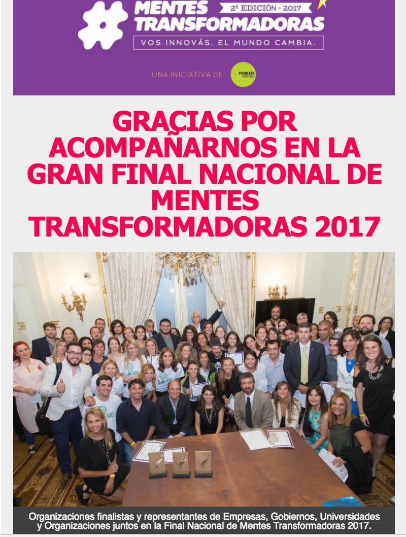 Mentes Transformadoras 2017