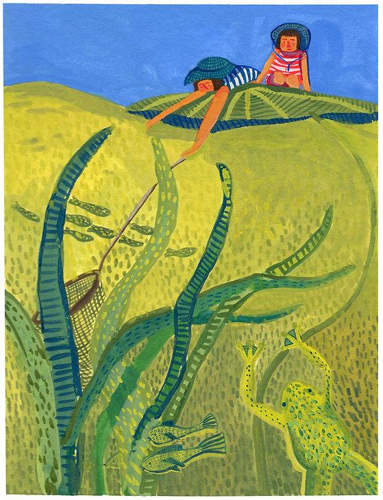 Green Pond Artwork by Ulrike Mieke
