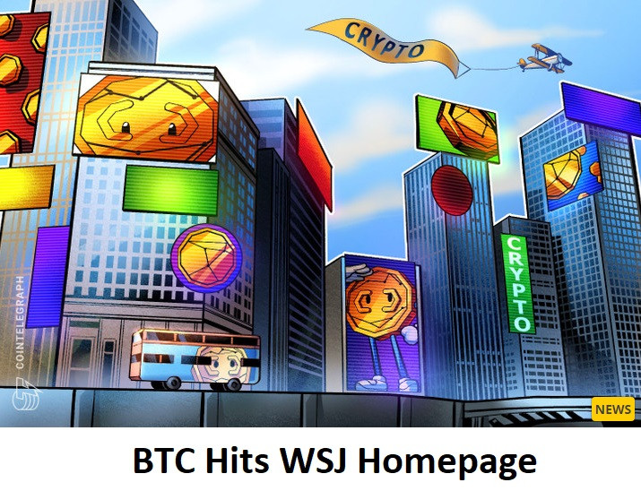 BTC Hits WSJ Homepage