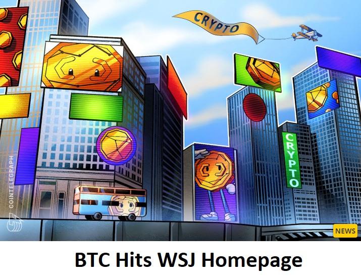 BTC Hits WSJ Homepage