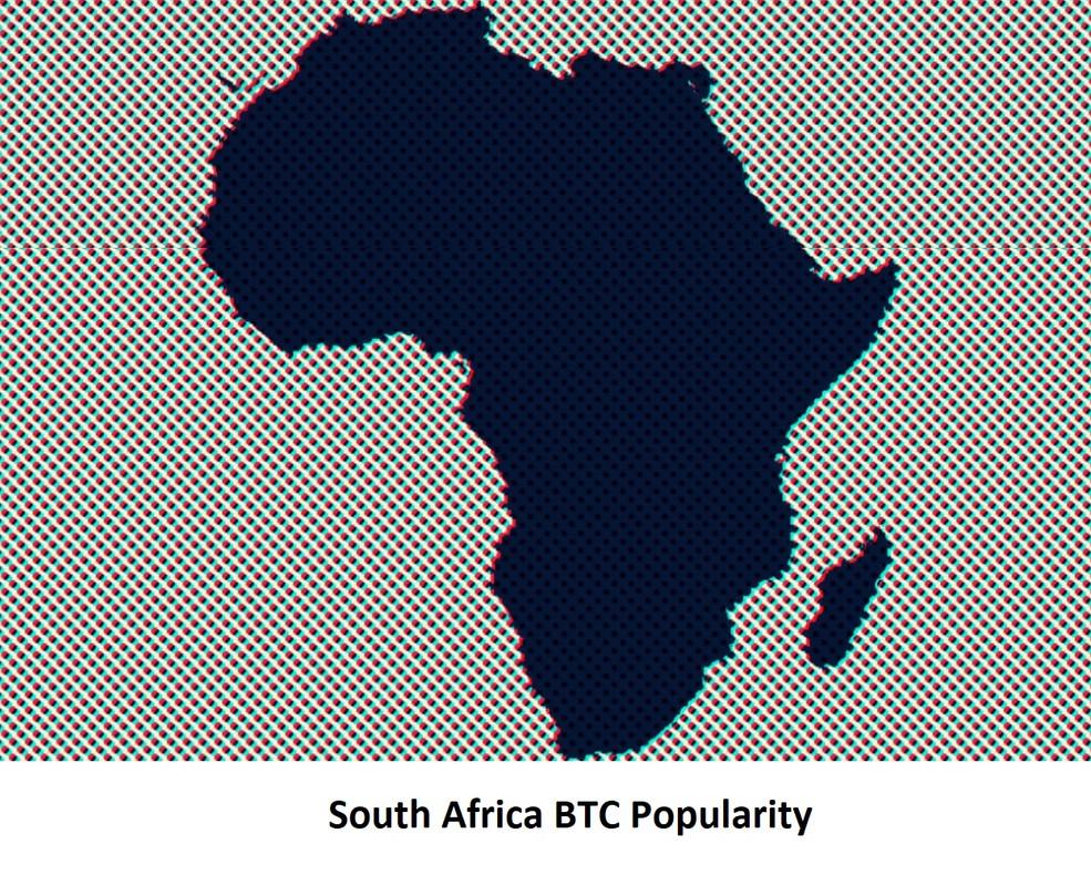 South Africa BTC Popularity