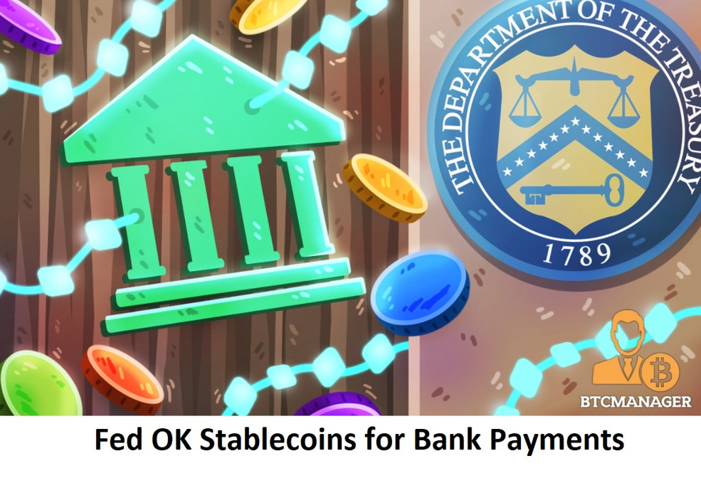 Fed OKs Stablecoins for Bank Payments