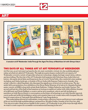 Spot our feature in t2 about AF Weekender where prominent professionals, provided a glimpse of art world through multidisciplinary perspectives.