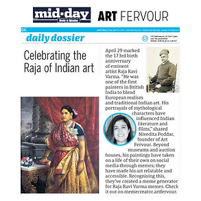 Our founder Nivedita  spoke to Mid- day about the rising popularity of art memes and discussed the artists' lasting legacy